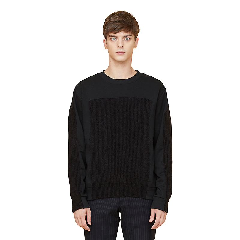 voll knit sweatshirts - black