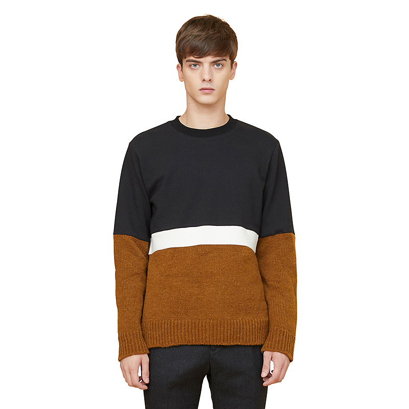 alfin knit sweatshirts - brown