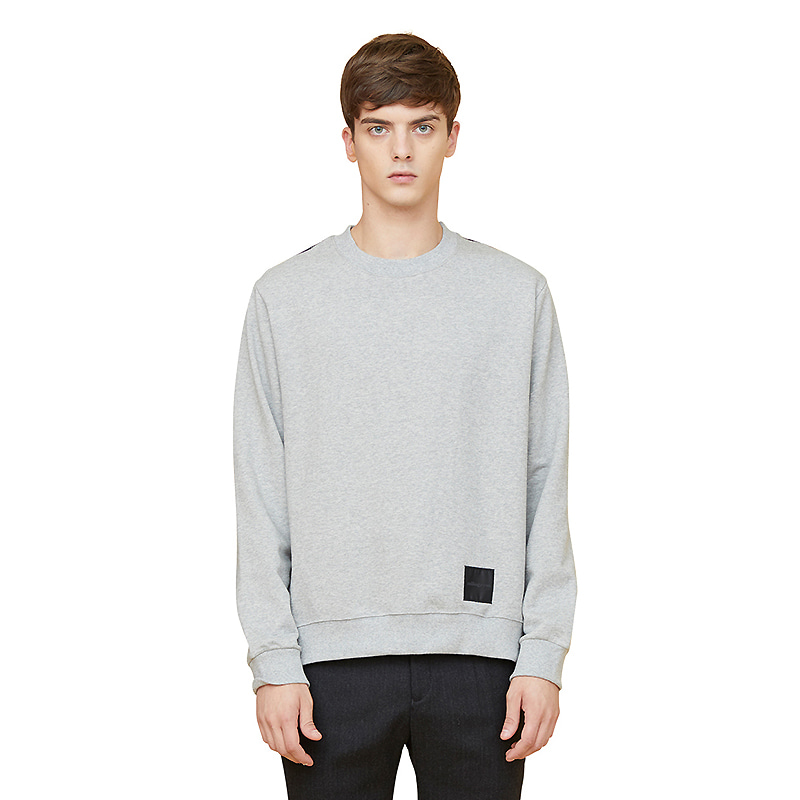 half check sweatshirts - gray