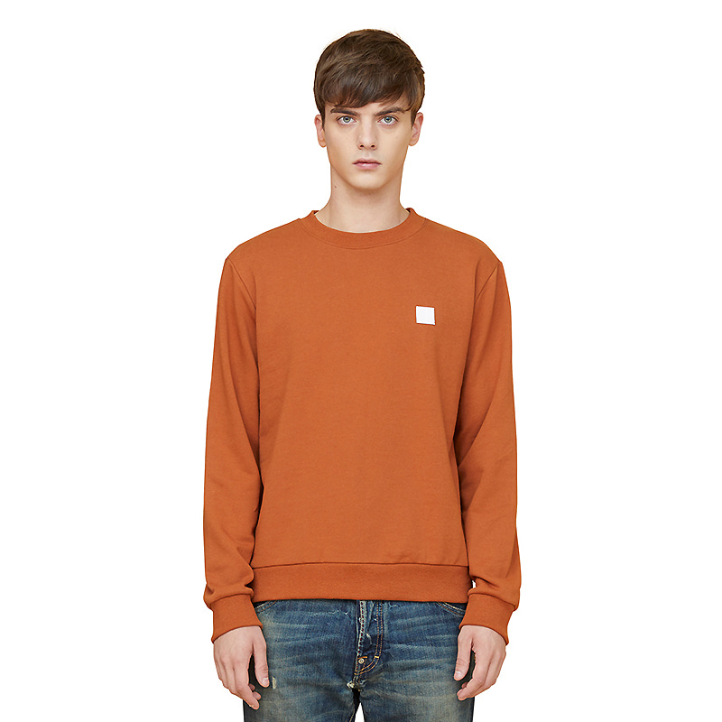 initials sweatshirts - orange
