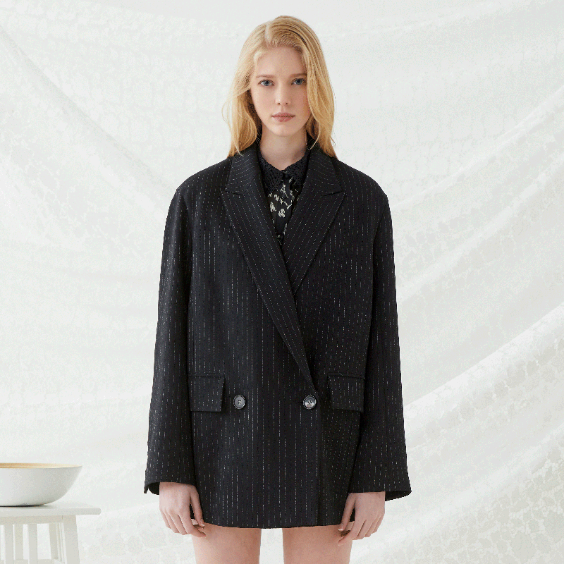 Cuddle Oversized Blazer - Black