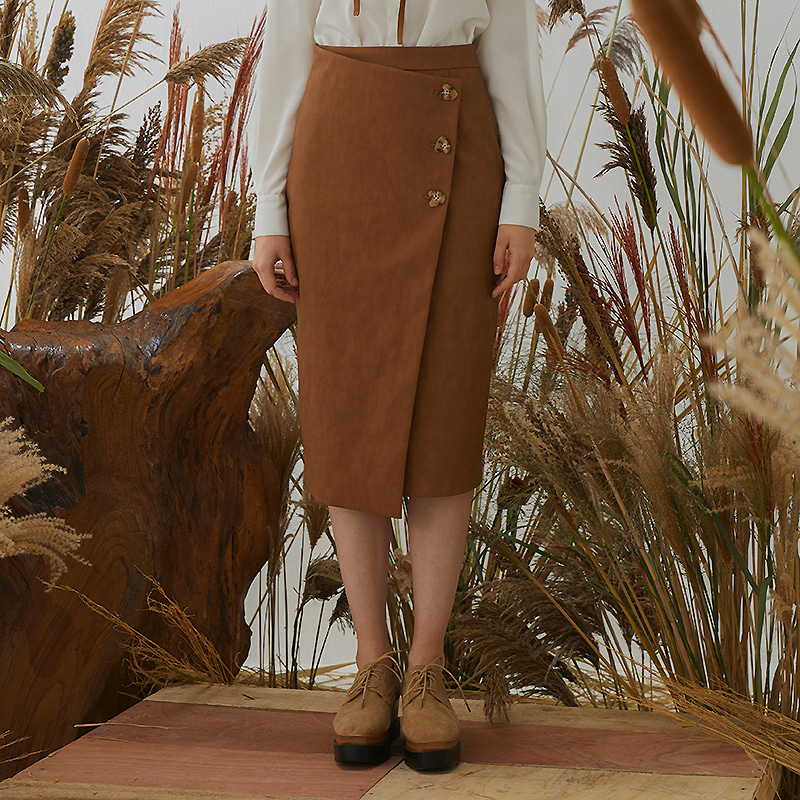Meg Wrap Skirt - Brown