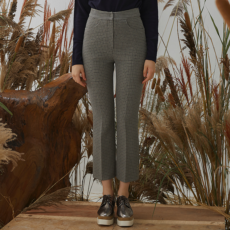 Elev Check Pants - Gray