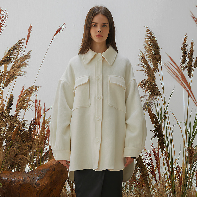 [여진구 착용]Macell Coat - Ivory