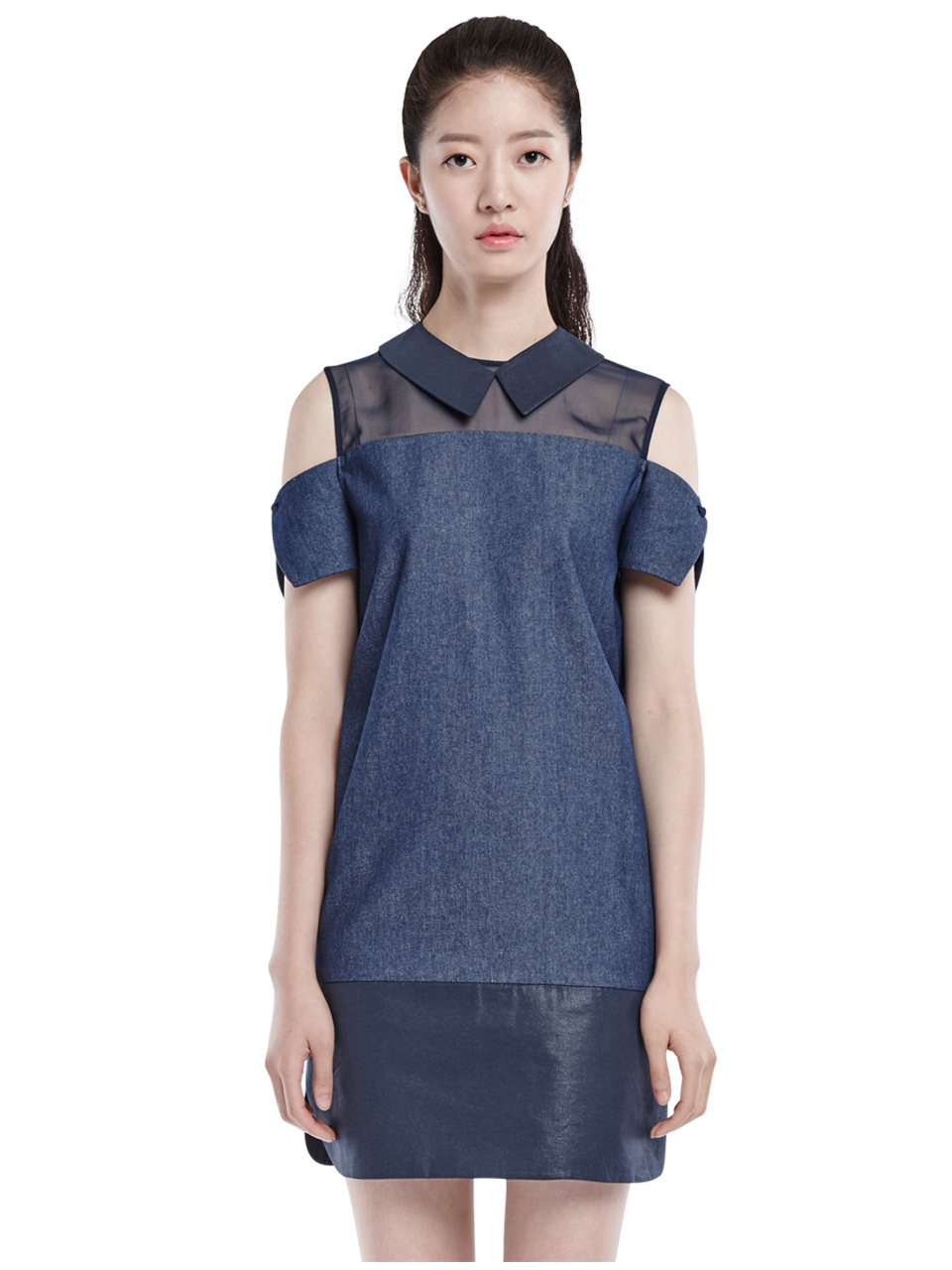 shift over dress - navy