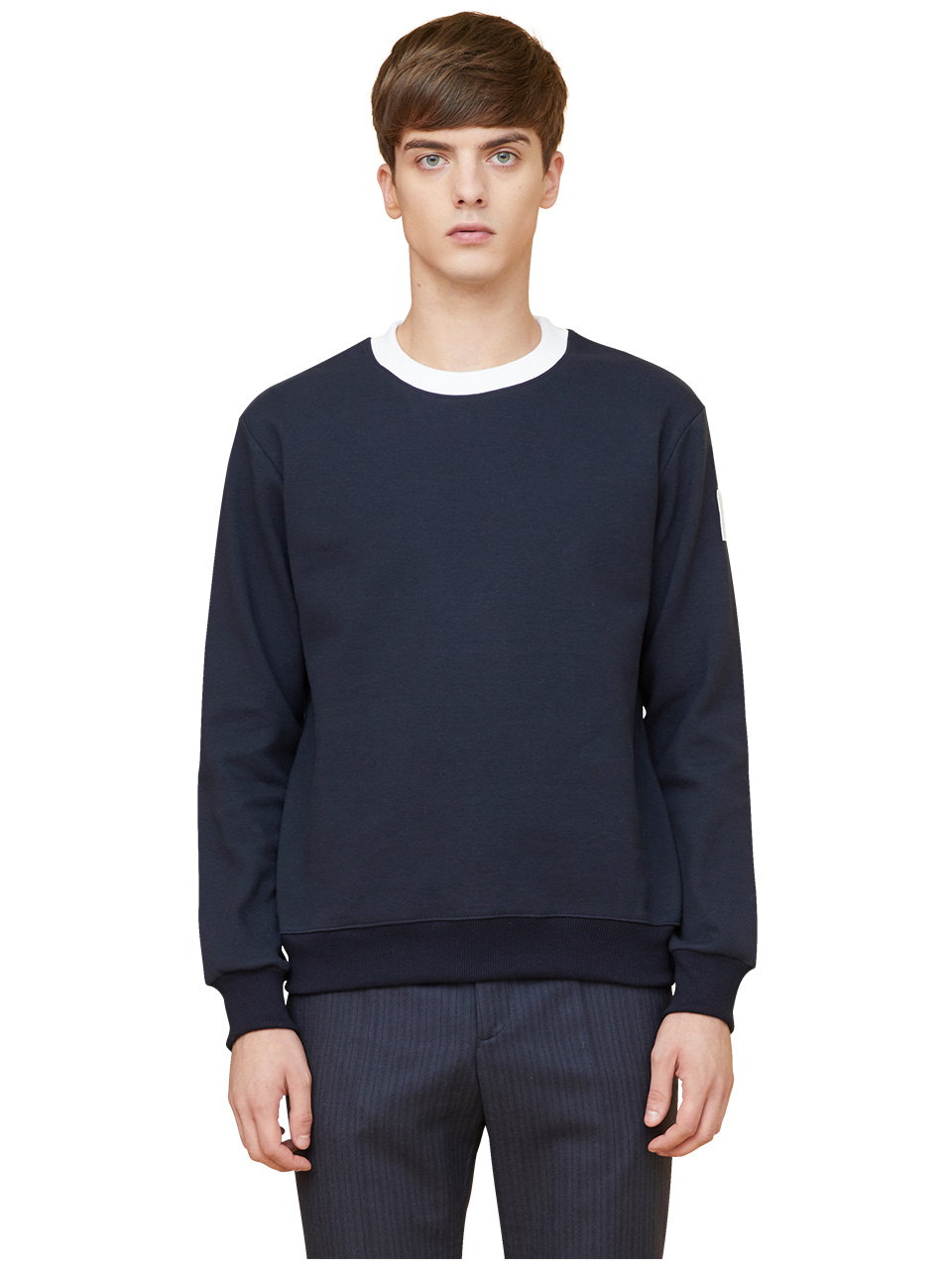 arm patch sweatshirts - navy