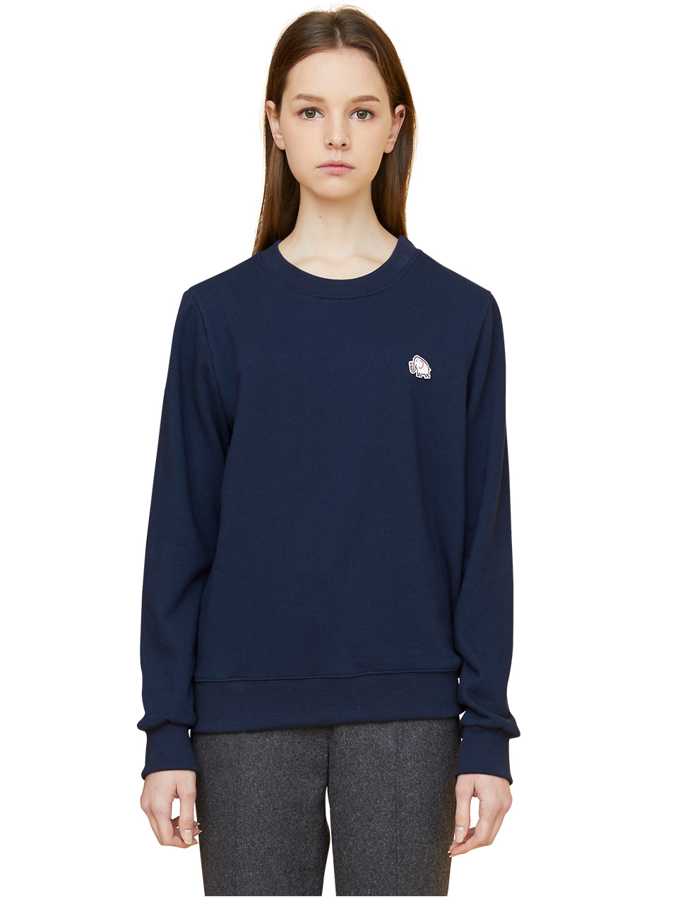 elephant patch sweatshirts - navy