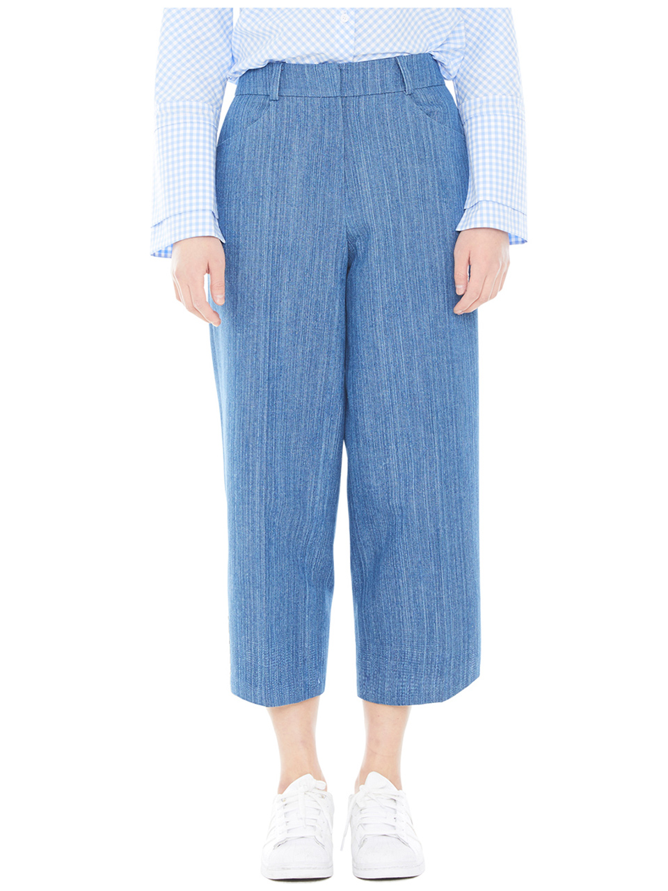denim wide pants - blue