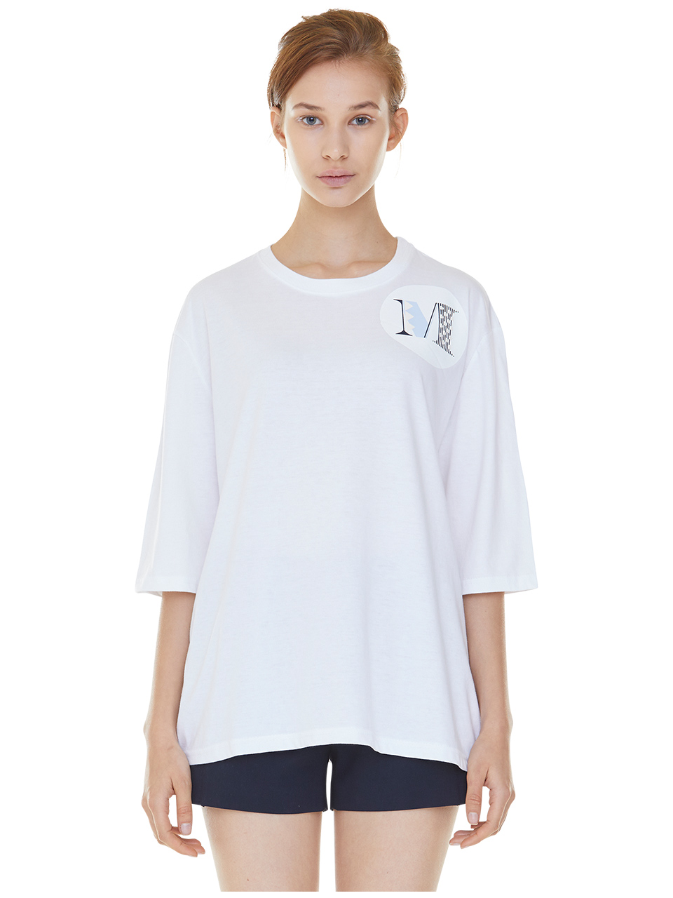 oversized shield m t-shirts - white