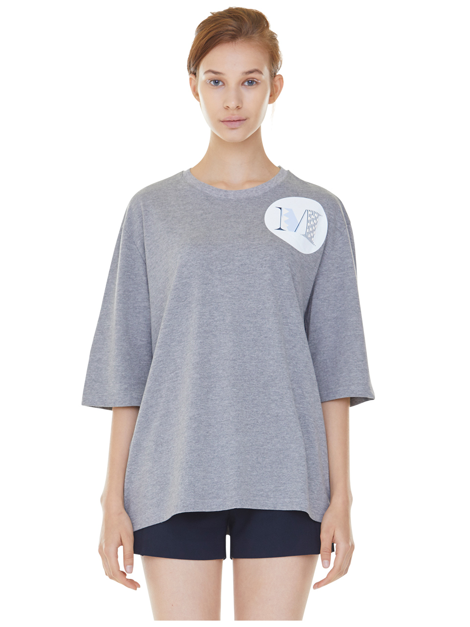 oversized shield m t-shirts - gray