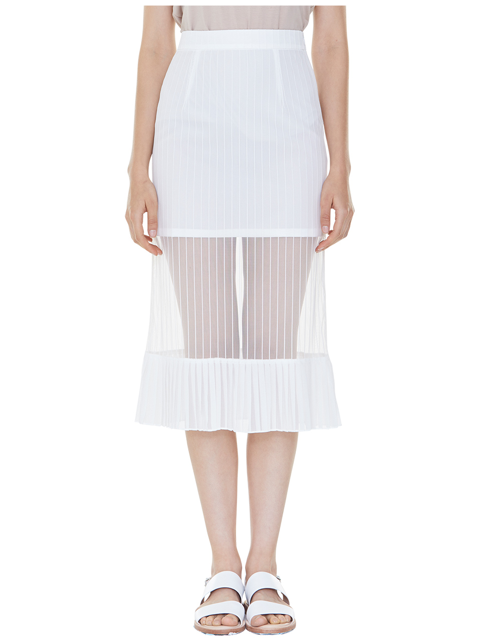 bare look skirt - white