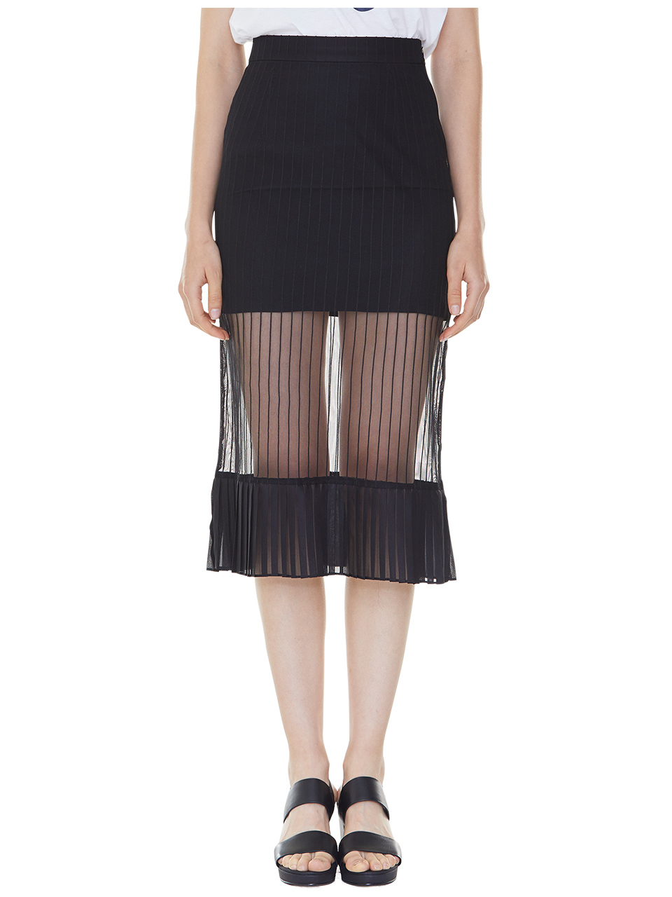 bare look skirt - black