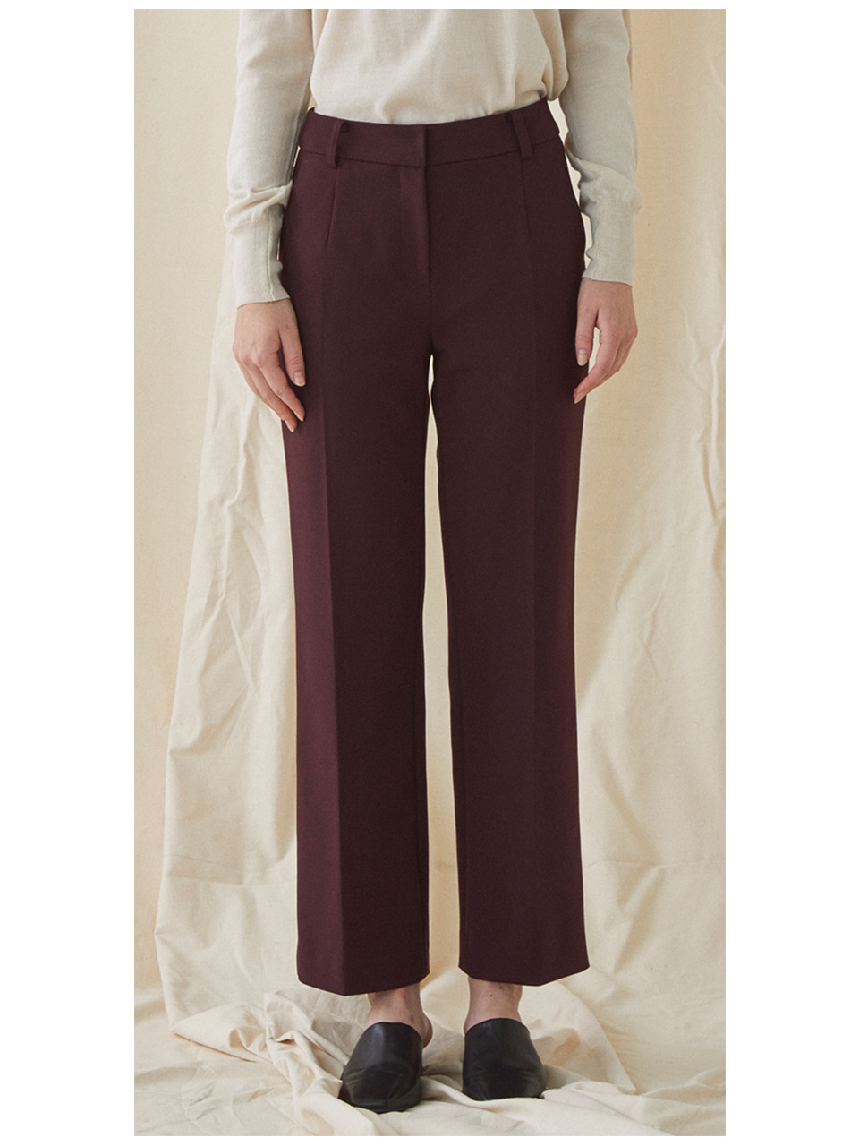 Slim Standard Trousers - wine