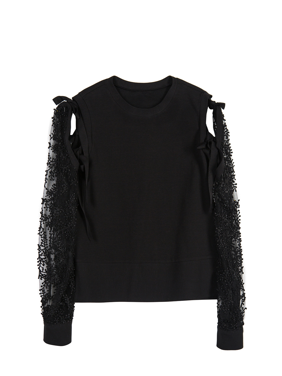 Bell Laced Pullover - black