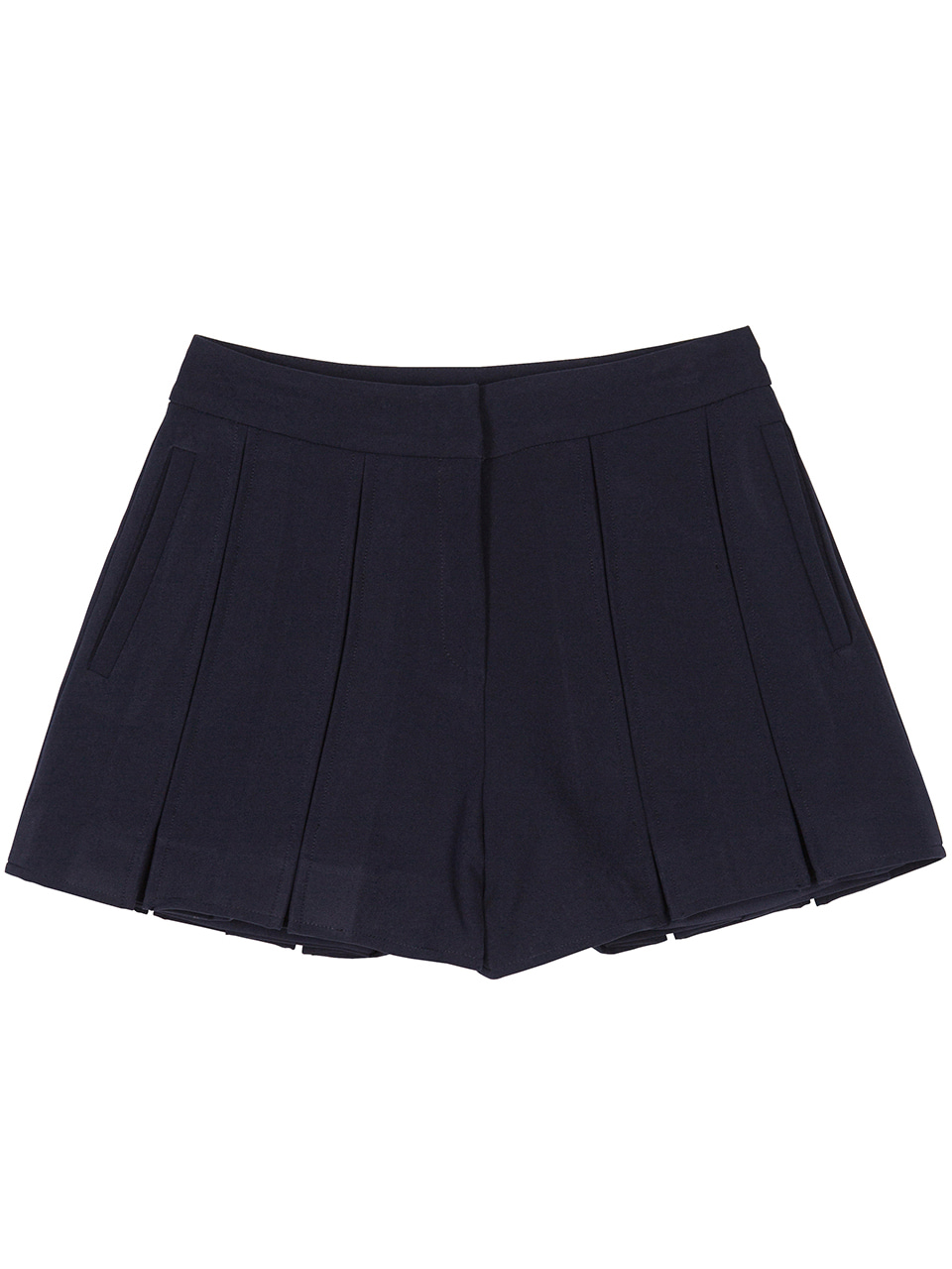 Slot Hem Shorts - navy