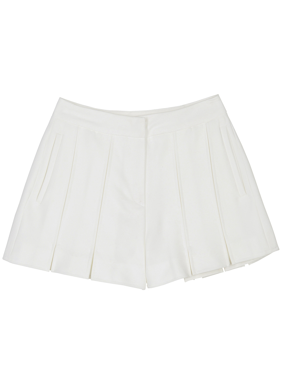 Slot Hem Shorts - white