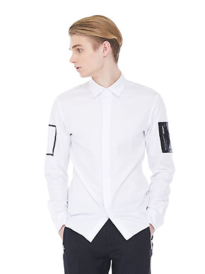 Leather Pocket Shirts - White