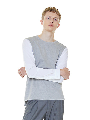 shirts sleeves t-shirts - gray