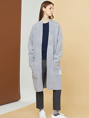snuggle long cardigan - gray