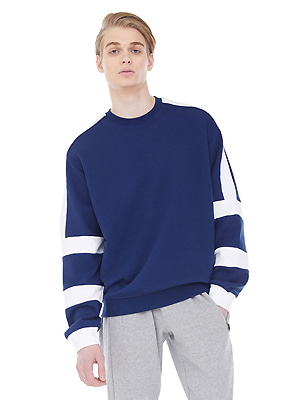 white block sweatshirts - navy