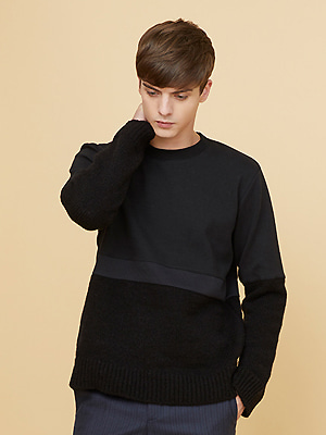 alfin knit sweatshirts - black