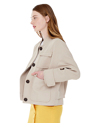crease jacket - beige