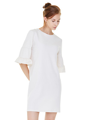 double sleeve chemise dress - cream