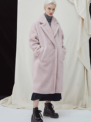 Snuggle Teddy Coat - Pink
