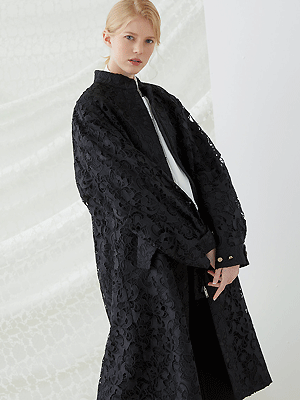 Fishtail Lace Jacket - Black