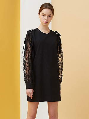 Bell Laced Dress - black