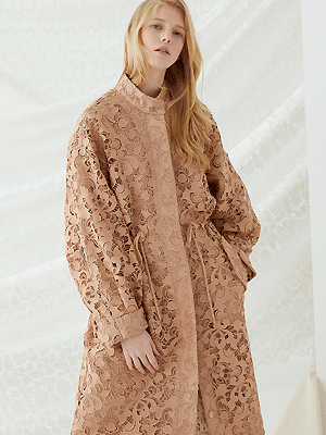Fishtail Lace Jacket - Beige