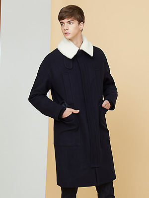 Grema zipper coat - Navy