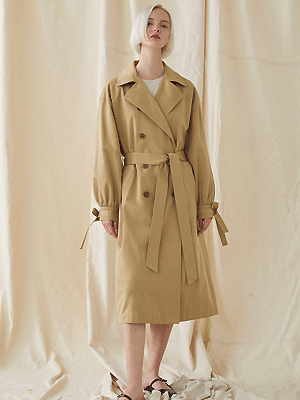 Blume Oversized Trench Coat - beige