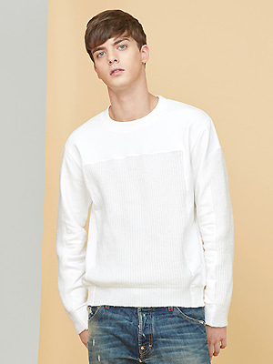 voll knit sweatshirts - white
