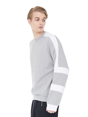 white block sweatshirts - gray