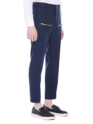 Zipped line pants - Navy