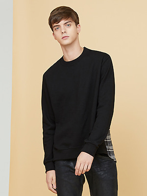 half check sweatshirts - black