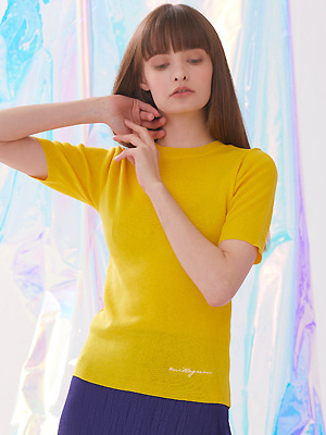 Voet Round Neck Knit - Yellow
