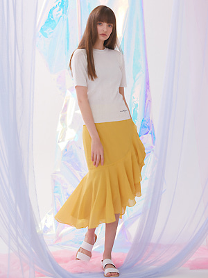 Double Flounce Skirt - Yellow