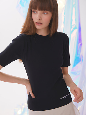 Voet Round Neck Knit - Black