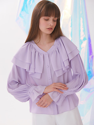 Flounts Blouse - Light Purple