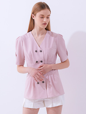 Halite Double Blouse - Pink