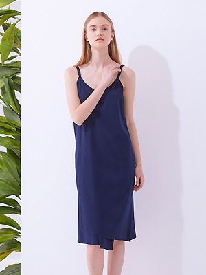 Brevit Slip Dress - Navy