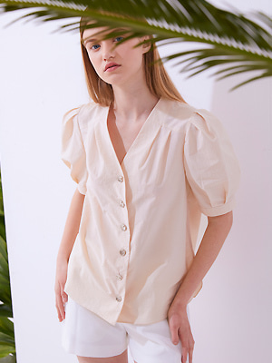 Rustle Blouse - Light Beige