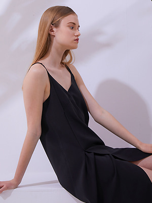 Brevit Slip Dress - Black