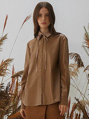 [한소희 착용]Mazel Blouse - Brown