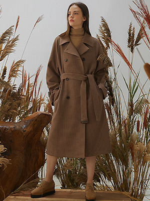 Malen Coat - Dark Brown