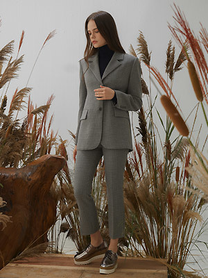 Elev Check Suit SET - Gray