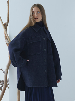 [규현 착용]Macell Coat - Navy