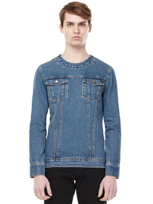 Denim Pullover - Blue
